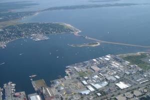 New Bedford Harbor Hurricane Barrier Aerial